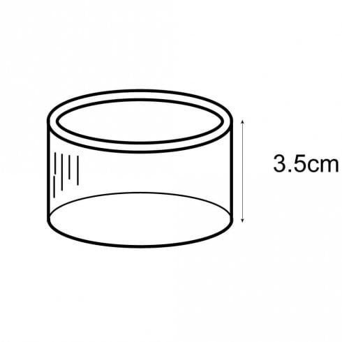 3.5cm napkin ring (acrylic display stands & POS)