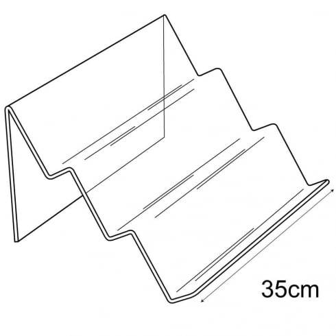 3 tier angled support (general purpose retail equipment)
