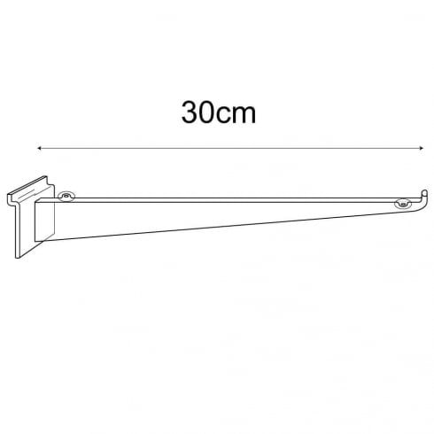 30cm bracket-slatwall (slatwall shelf bracket)