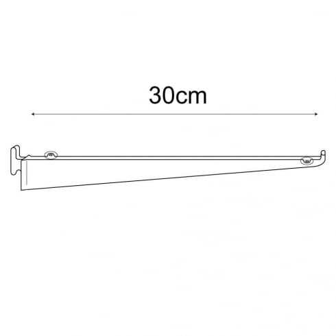 30cm bracket-wallstrip (wall strip shelving system)