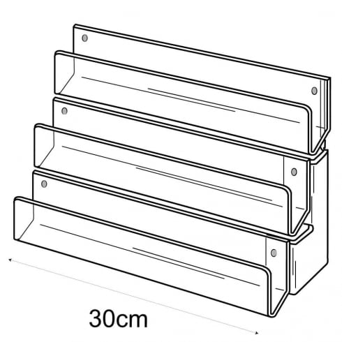 30cm card rack: 3 tier-wall (tiered card rack)