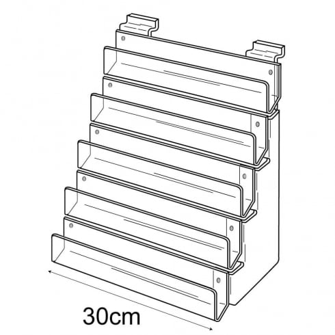 30cm card rack: 5 tier-slatwall (card rack for slatwall)