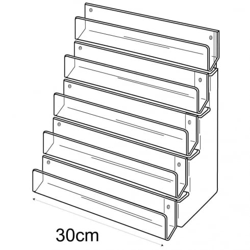 30cm card rack: 5 tier-wall (tiered card rack)