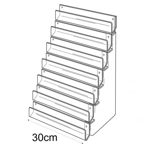 30cm card rack: 7 tier-wall (tiered card rack)
