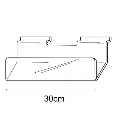 30cm card rack-slatwall (acrylic card rack for slatwall)