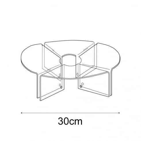 30cm circular display: set of 4 (circular risers for display cases)