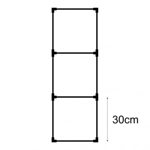 30cm cube kit 1 (acrylic cube storage system)