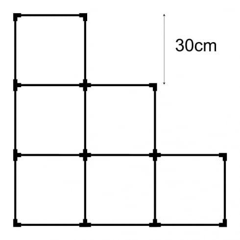 30cm cube kit 2 (acrylic cube storage system)