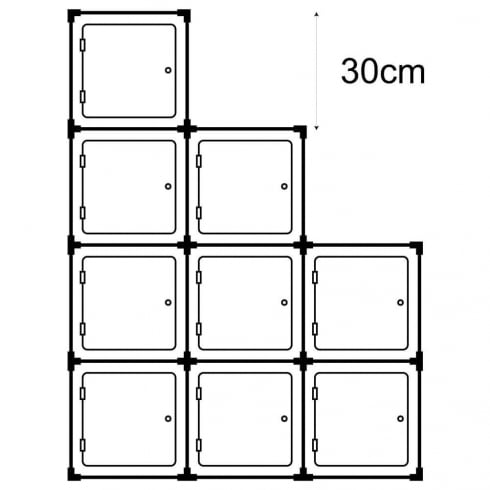 30cm cube with door kit 3 (acrylic cube display cases)