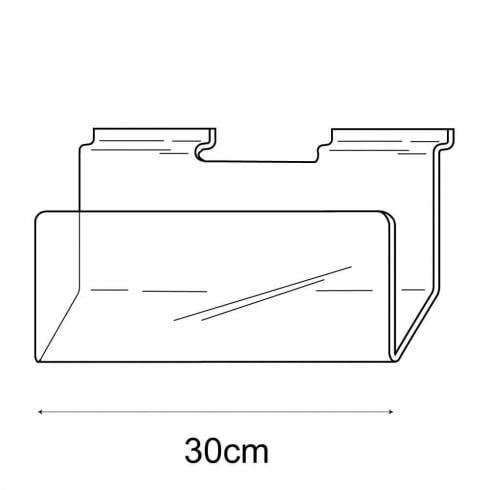 30cm deep card rack-slatwall (acrylic card rack for slatwall)