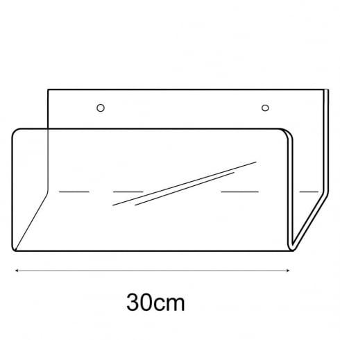 30cm deep card rack-wall (acrylic card rack)
