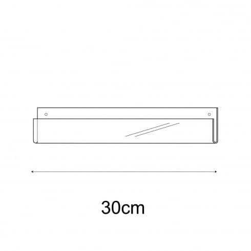 30cm exhibition card rack-wall (acrylic card display)