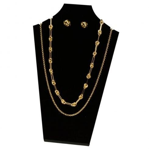 30cm necklet: flat front (acrylic necklet jewellery display)