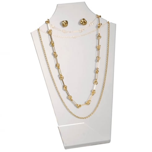 30cm necklet: flat front (acrylic necklet jewellery display)