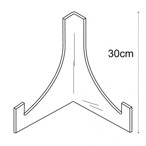 30cm plate stand: heavy duty (acrylic plate stands: shop equipment)