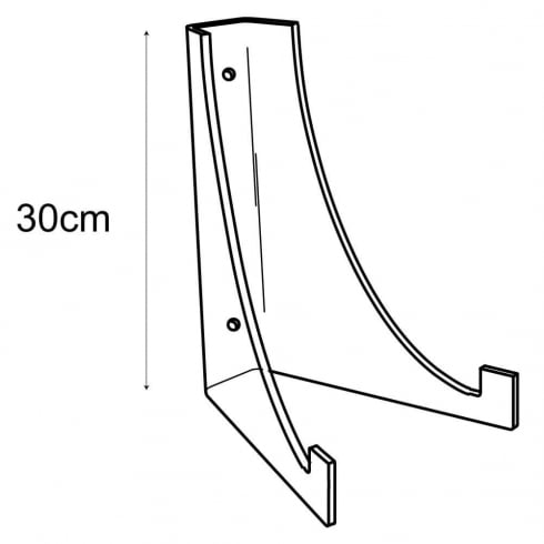 30cm plate stand-wall (acrylic plate stands: shop equipment)