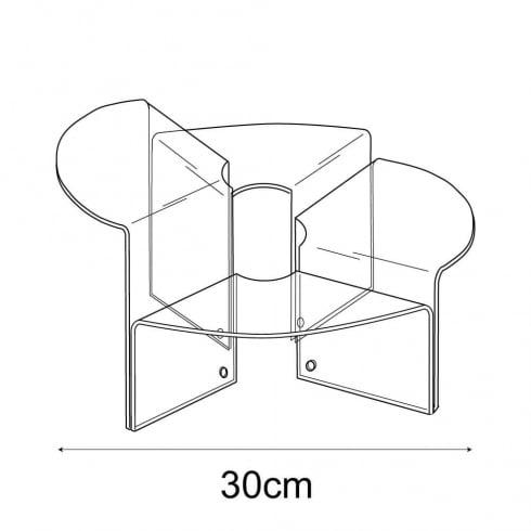 30cm stepped circular display: set of 4 (circular risers for display cases)