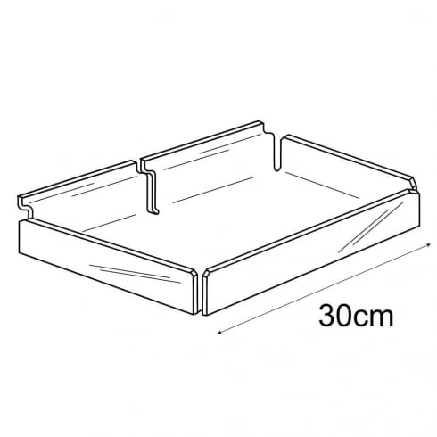 30cm tray-slatwall (acrylic containers & trays)