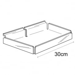 30cm tray-slatwall (acrylic containers & trays)