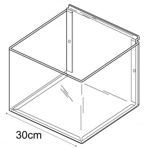 30cmx30cm bin-slatwall (trays & tubs for slatwall)