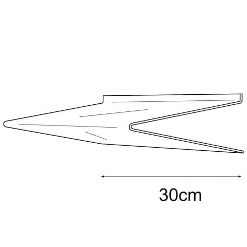 30cmx30cm heavy duty shelf-slatwall (acrylic shelves: slatwall)