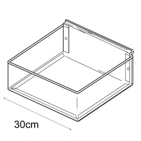 30cmx30cm tray-slatwall (trays & tubs for slatwall)