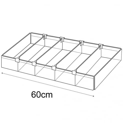 30cmx60cm tray: adjustable dividers (containers & trays: retail display)