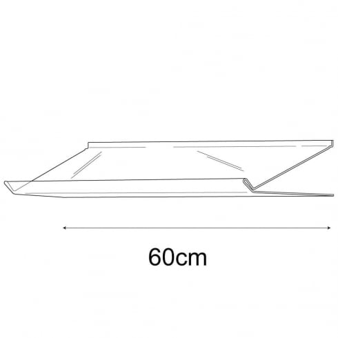 31cmx60cm lipped sloping display-slatwall (slatwall acrylic shelf)