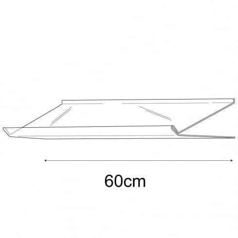 31cmx60cm lipped sloping display-slatwall (slatwall acrylic shelf)