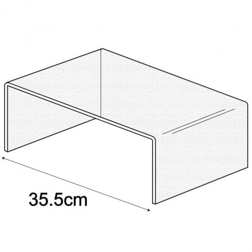 35.5 cm shelf riser (acrylic display stands)
