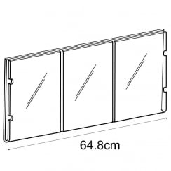 3x A4 portrait sign holder-cable fixing (hanging sign holder: cable system)