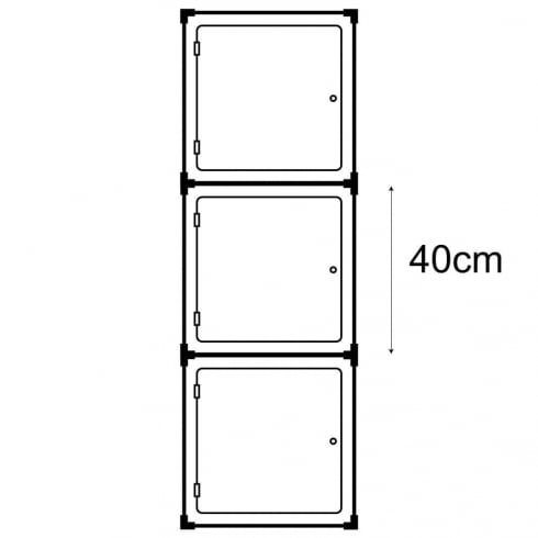 40cm cube with door kit 1 (acrylic cube display cases)