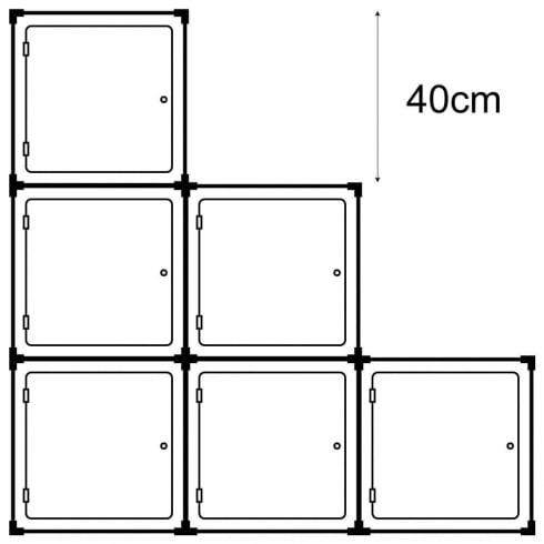 40cm cube with door kit 2 (acrylic cube display cases)