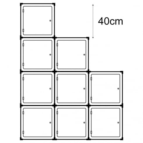 40cm cube with door kit 3 (acrylic cube display cases)