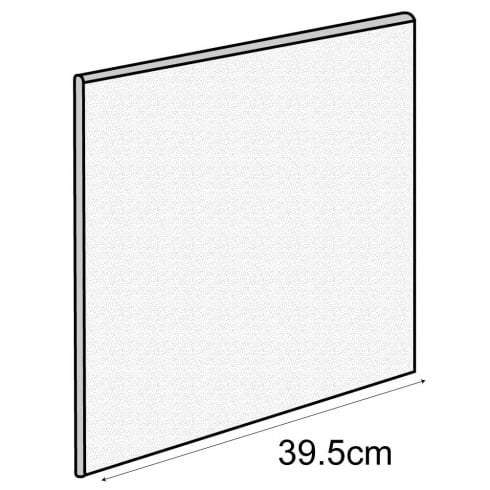 40cm decorative back panel (storage cube system)