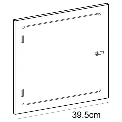 40cm door (acrylic cube display cases)