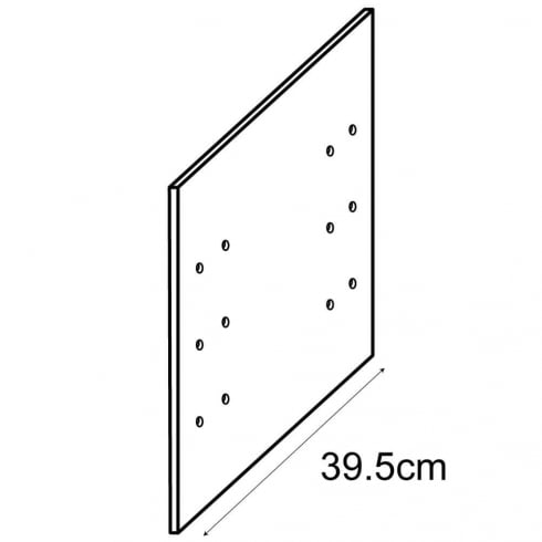 40cm drilled side panel (storage cube system)