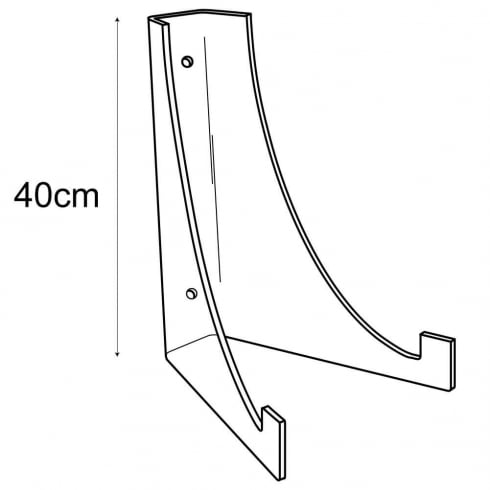 40cm plate stand-wall (acrylic plate stands: shop equipment)