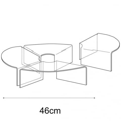 46cm circular display: set of 4 (circular risers for display cases)
