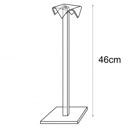 46cm hat stand (jewellery & fashion display)
