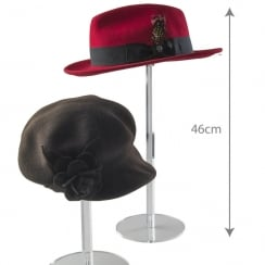 46cm round hat stand (acrylic hat display)