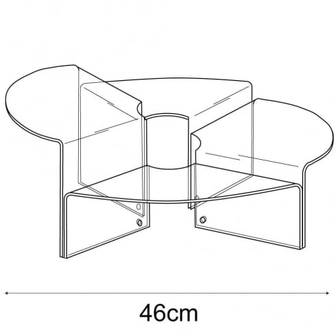 46cm stepped circular display: set of 4 (circular risers for display cases)