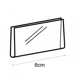 4x8cm landscape sign holder for T95000 (shop equipment extras)