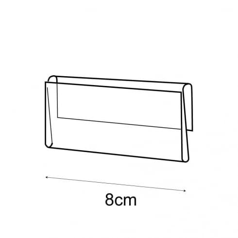 4x8cm shelf barker-push on (pricing & labelling solution)