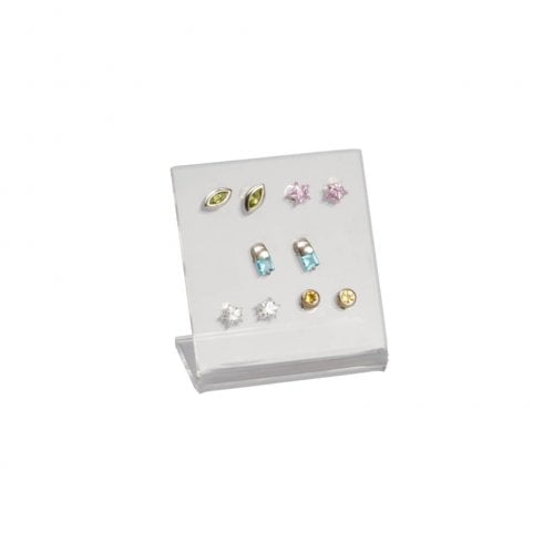 5 pair stud display (acrylic earring & jewellery display)