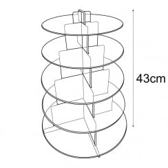 5 tier cake stand (cake stand & cake display)
