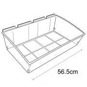 56cm budget dump bin-slatwall (trays & tubs for slatwall)