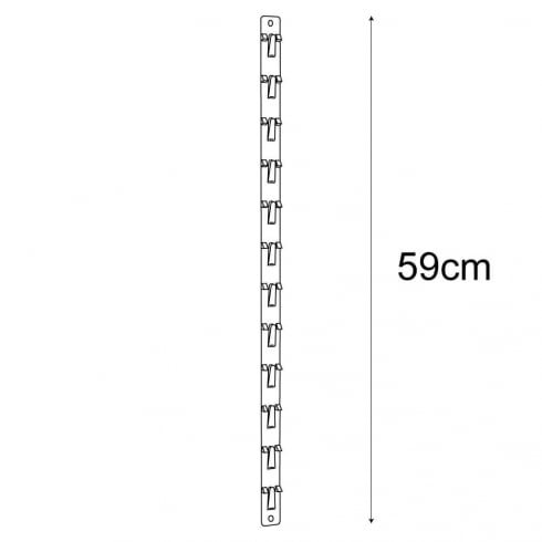 59cm clip strip: pack of 10 (point of sale accessories)