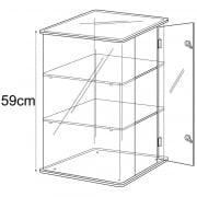 59cm display case: lockable-counter (acrylic display cabinet)