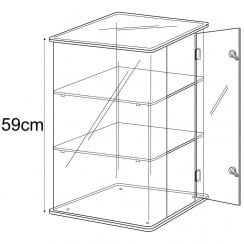 59cm display case: lockable-counter (acrylic display cabinet)